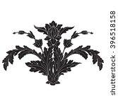vintage baroque frame scroll... | Shutterstock .eps vector #396518158