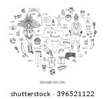 hand drawn doodle welcome to...   Shutterstock .eps vector #396521122