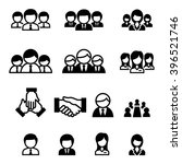 staff icon set | Shutterstock .eps vector #396521746