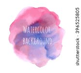 watercolor vector background... | Shutterstock .eps vector #396525805