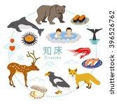 shiretoko tourism   flat icons   Shutterstock .eps vector #396526762