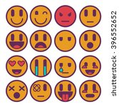 web smiles icon set stickers... | Shutterstock .eps vector #396552652