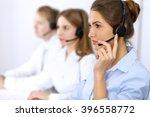 Call Center. Focus On Beautifu...