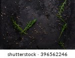 Black Food Background With...