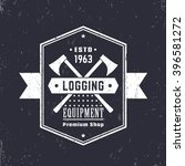 logging equipment  lumber shop... | Shutterstock .eps vector #396581272
