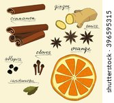 Set With Dried Orange  Ginger ...