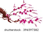 a branch of a blossoming tree.... | Shutterstock . vector #396597382