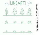 graphical line art style icon... | Shutterstock .eps vector #396598762