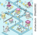 seamless pattern with isometric ... | Shutterstock .eps vector #396600382