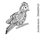 beautiful bird in the style of... | Shutterstock .eps vector #396600415