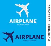 vector logo plane. brand logo... | Shutterstock .eps vector #396614392
