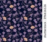 vintage floral seamless pattern.... | Shutterstock .eps vector #396616126
