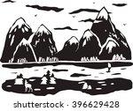 illustration of silhouette of... | Shutterstock .eps vector #396629428