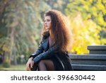 beautiful young woman with... | Shutterstock . vector #396630442