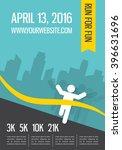 running marathon  people run ... | Shutterstock .eps vector #396631696