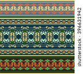 ethnic geometric print.... | Shutterstock .eps vector #396631942