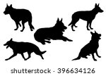 German Shepherd Silhouette...