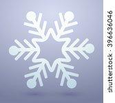 snowflakes icon   vector... | Shutterstock .eps vector #396636046