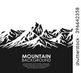 mountain range isolated on... | Shutterstock .eps vector #396642358