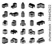 building icons. vector... | Shutterstock .eps vector #396642622