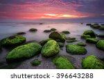Green Morning. Rocky Beach...