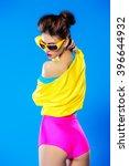 glamorous fashion model posing... | Shutterstock . vector #396644932