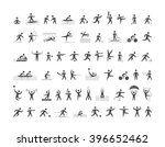 black sports icons set. vector... | Shutterstock . vector #396652462