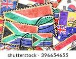 south africa vintage  postal...   Shutterstock . vector #396654655