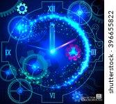 composition of gears  clock...   Shutterstock .eps vector #396655822