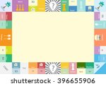 frame of monopoly board game ... | Shutterstock .eps vector #396655906