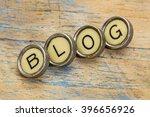 Blog Word Spelt In Vintage...