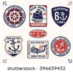set of emblem  labels marine... | Shutterstock .eps vector #396659452