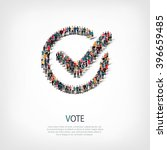 vote yes  people crowd | Shutterstock .eps vector #396659485