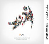 play people crowd | Shutterstock .eps vector #396659662
