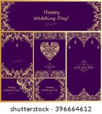 wedding vintage golden design | Shutterstock .eps vector #396664612