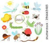 insects vector. insects... | Shutterstock .eps vector #396665485