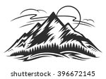 vector mountain landscape with... | Shutterstock .eps vector #396672145