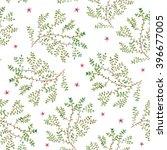 watercolor twigs pattern....   Shutterstock .eps vector #396677005
