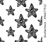 b w seamless pattern with line ... | Shutterstock .eps vector #396677512