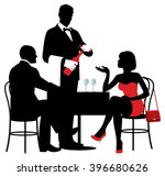 vector silhouettes of people... | Shutterstock .eps vector #396680626