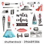 premium quality watercolor... | Shutterstock .eps vector #396689386