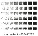 set of 48 hearts stipple... | Shutterstock . vector #396697522