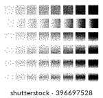 set of 48 square stipple... | Shutterstock . vector #396697528