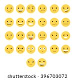 great set of 26 yellow emotions ... | Shutterstock . vector #396703072