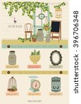 cute vintage vector elements 4 | Shutterstock .eps vector #396706348