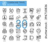 tourism and travel   thin line... | Shutterstock .eps vector #396710836