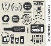 vintage beer labels design... | Shutterstock .eps vector #396722536
