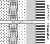 a set of simple monochrome... | Shutterstock .eps vector #396723145