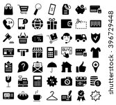 e commerce. flat web icons set. ... | Shutterstock .eps vector #396729448