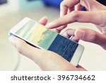 smart phone search vacation trip | Shutterstock . vector #396734662